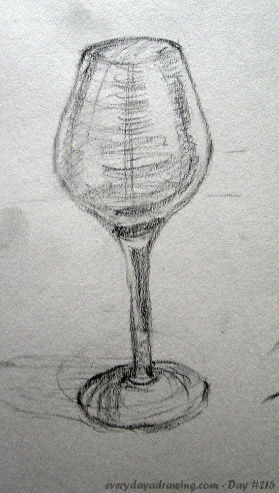 Another drawing of a wine glass