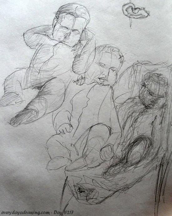 Maia Gesture Drawings
