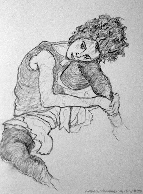 Copy of an egon schiele painting