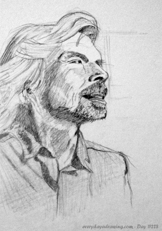 Drawing of Virgin's Richard Branson