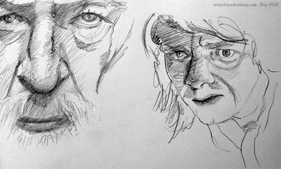 Drawing of Gandalf