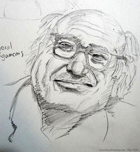 Drawing of Danny DeVito