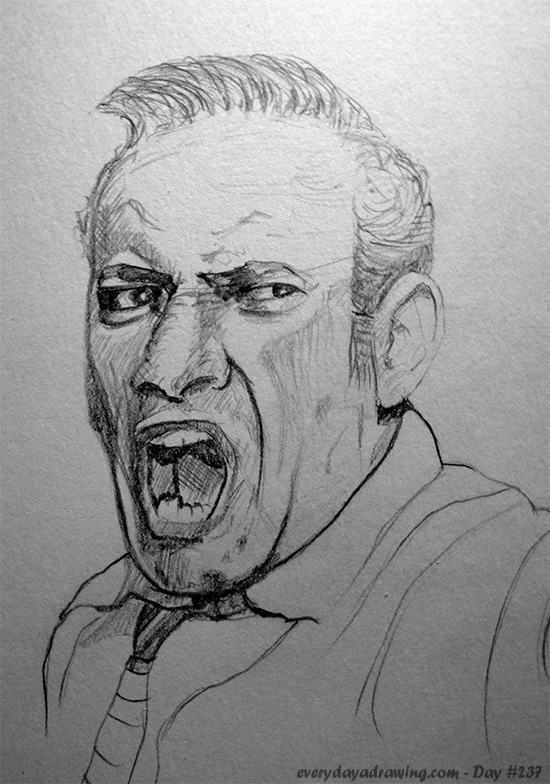 Juror No #3 in 12 Angry Men Lee J Cobb Drawing
