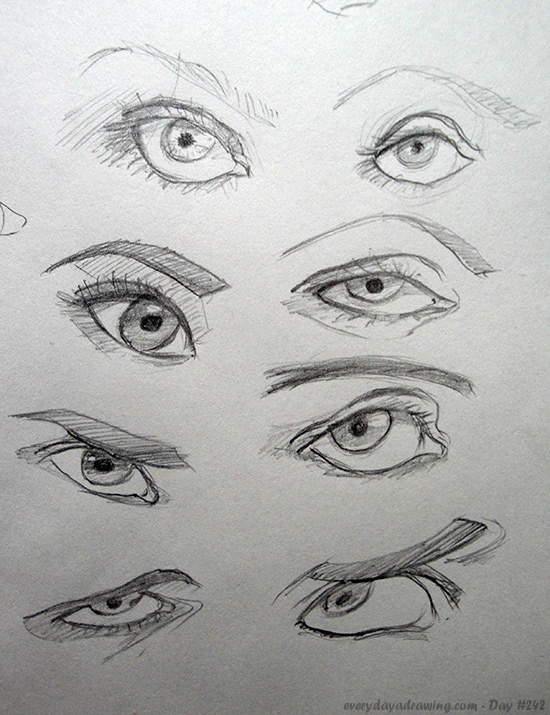 Drawings of Eyes from different angles