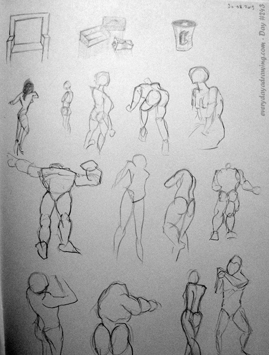 Pencil Gesture Drawnings