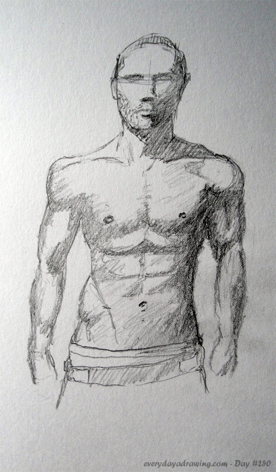 Drawing of a Male chest