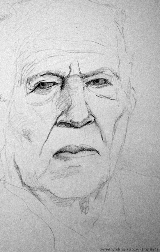 Drawing of Werner Herzog