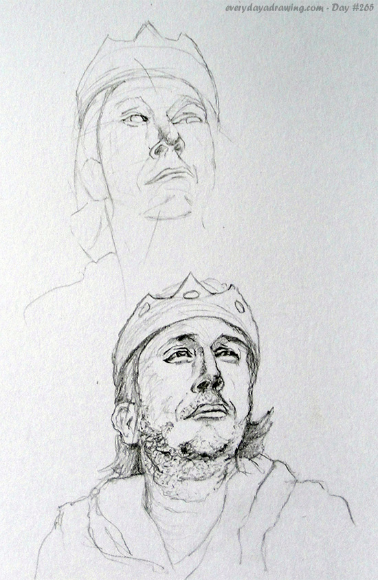 Drawing of comedian Richard Herring