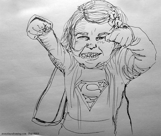 Drawing of Superman Girl