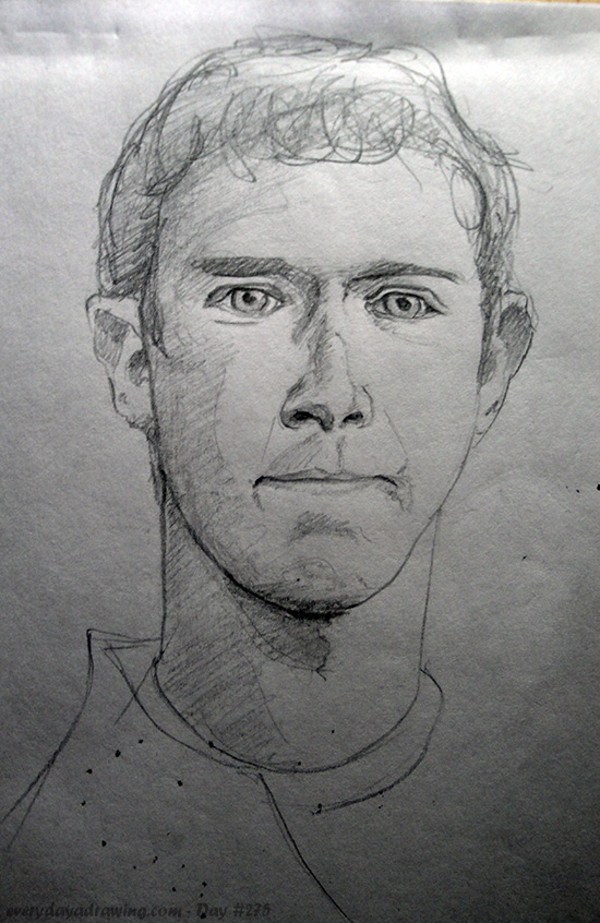 Drawing of Mark Zuckerberg