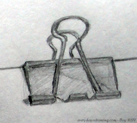 Drawing of a paperclip