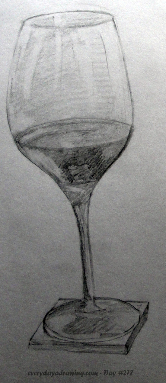 Drawing of a wine glass