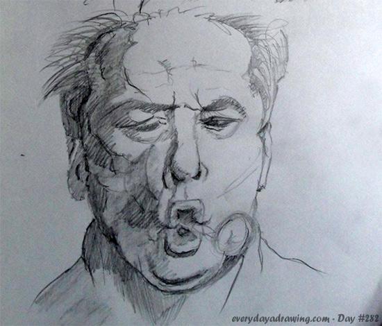 Drawing of Jack Nicholson