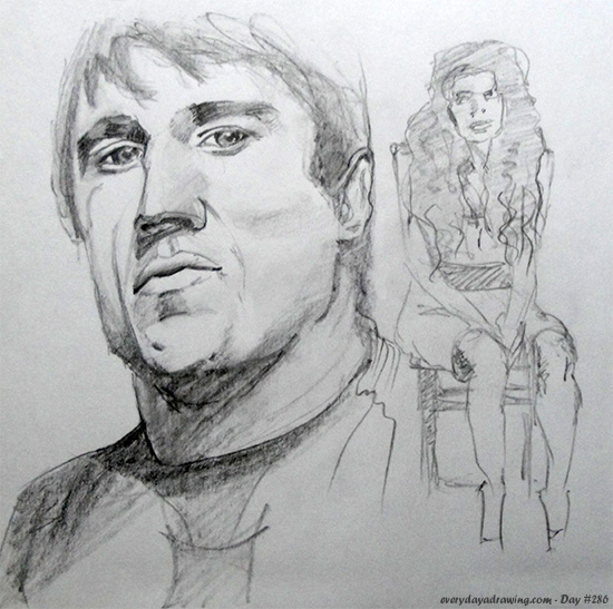 Drawing of Chael Sonnen