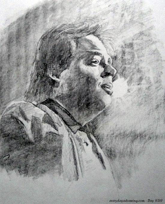 Drawing of Bill Hicks