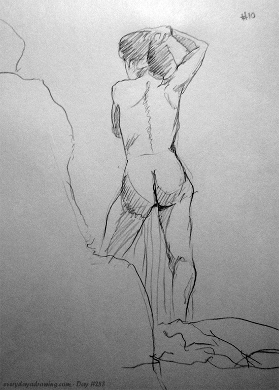 Life Drawing Session 12. 10 minute drawing