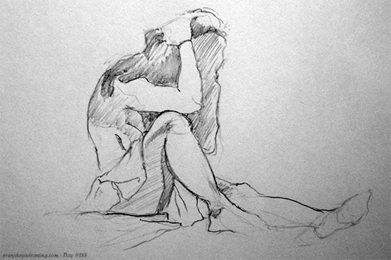 Life Drawing Session 12. 20 minute drawing
