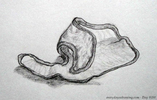 Drawing of a Baby's bib