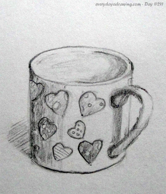 Drawing of a cup