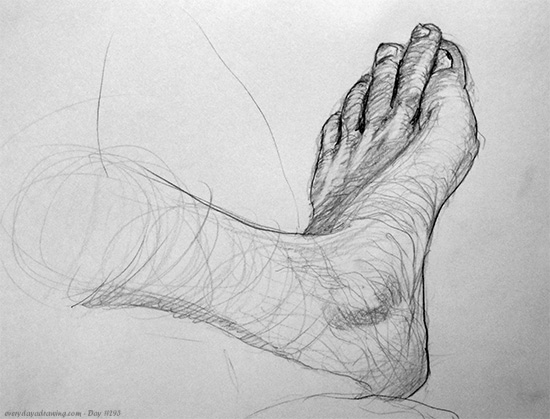Drawing of my foot