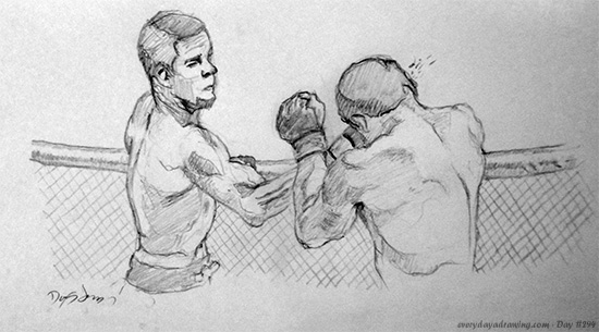 Drawing of two MMA Fighters