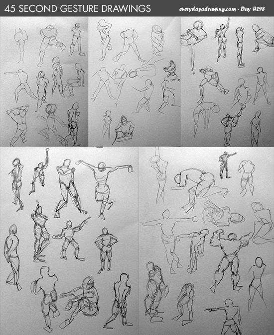 How to do gesture drawing