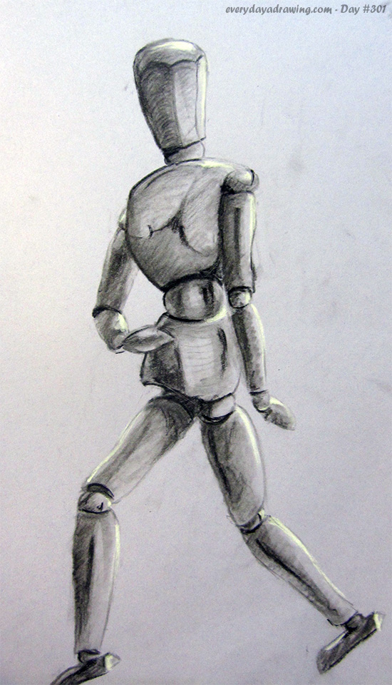 Drawing of a Mannequin in Charcoal