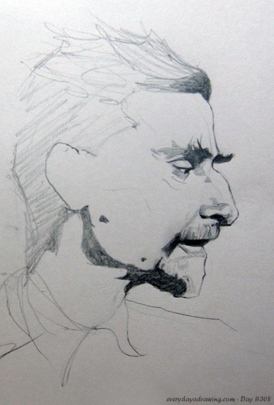 Drawing of M. C. Escher