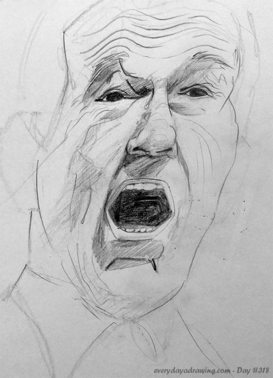 Drawing of Ron Paul