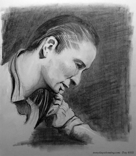 Drawing of Jack Kerouac