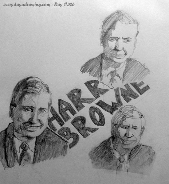 Drawings of Harry Browne