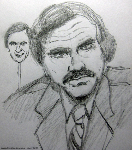 Drawing of Anchorman
