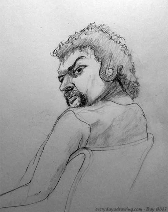 Drawing of Kenny Powers