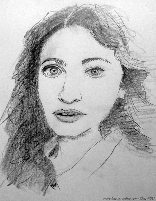 Drawing of Regina Spektor