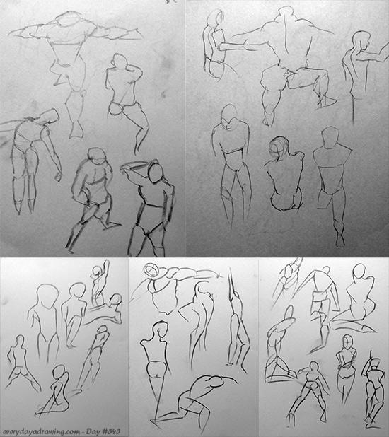 Gesture Drawings 45 seconds per pose