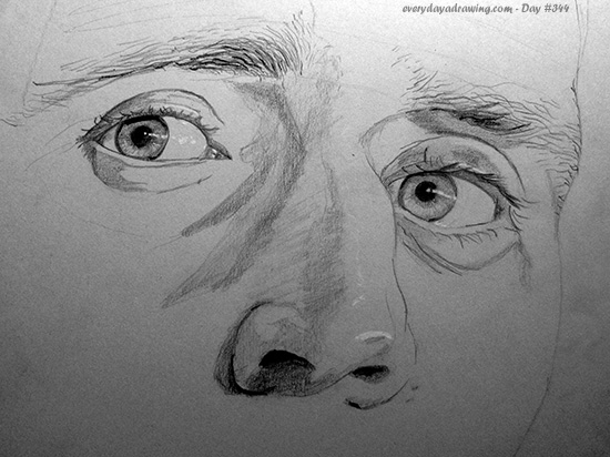 Drawing of Tom Hiddleston's eyes
