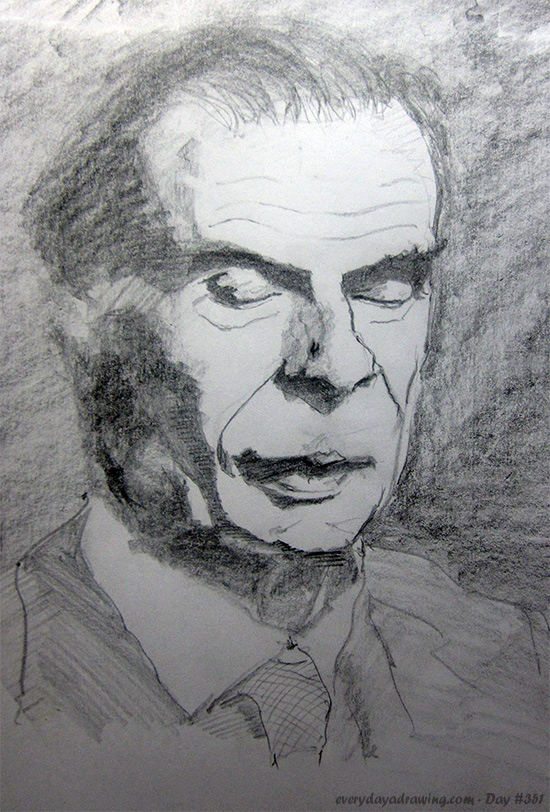 Drawing of Aldous Huxley