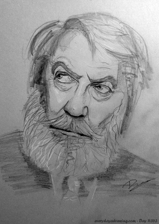 Drawing of Donald Sutherland