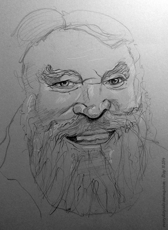 Drawing of Brian Blessed