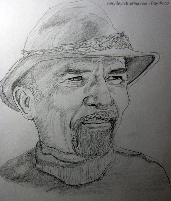 Drawing of author and Psychotherapist Irvin D. Yalom