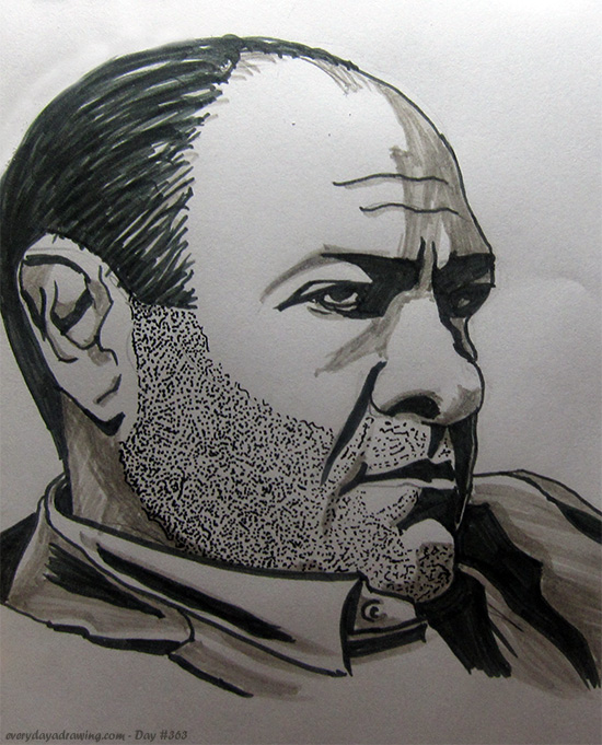 Drawing of Tony Soprano