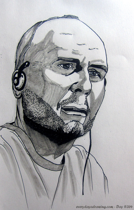 Drawing of Stefan Molyneux